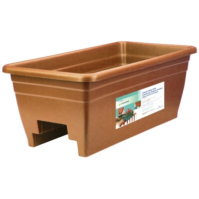 Rectangular Rail Planter Color: Clay SPX24DB0E24