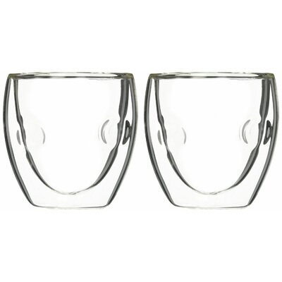Moderna Artisan Series Double Wall 2 oz Insulated Beverage and Espresso Shot Glasses DW020A-2