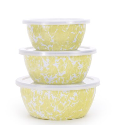 Spatter 6-Piece Nesting Bowl Set Color: Butter Yellow BY30