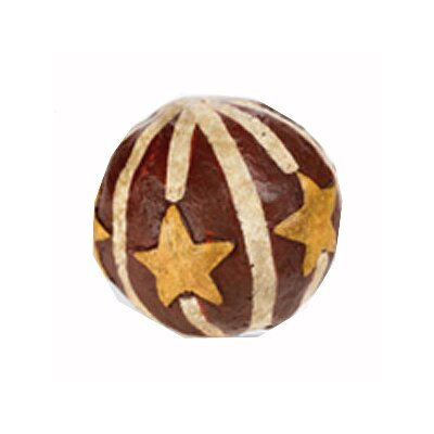 Papier Mache Star Sphere Sculpture 30213E