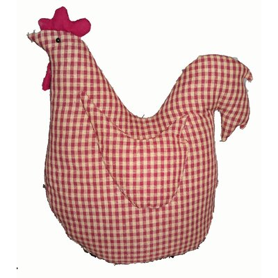 Gingham Checkered Fabric Hen Doll Collectible Figurine