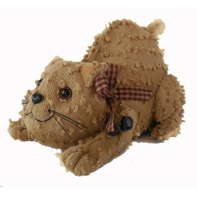 Shabby Elegance Chenille Fabric Kitty Collectible Figurine