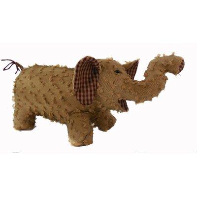 Shabby Elegance Fabric Chenille Elephant Collectible Figurine