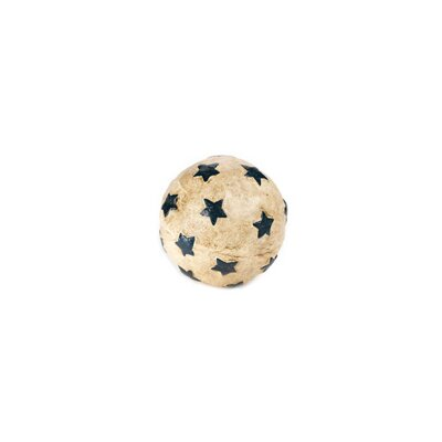 Papier Mache Star Sphere Sculpture Color: Antique White