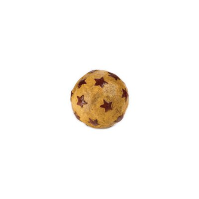 Papier Mache Star Sphere Sculpture Color: Antique Mustard and Red 30211E