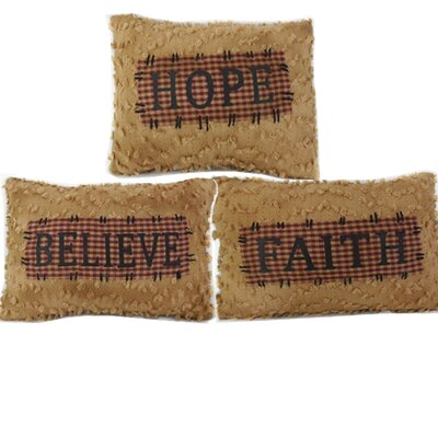 Faith-Hope-Believe Chenille Throw Pillow Set
