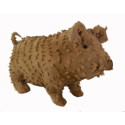 Shabby Elegance Fabric Chenille Farmhouse Pig Collectible Figurine