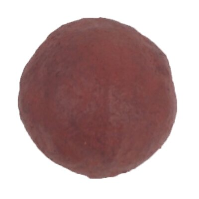Papier Mache Traditional Sphere Sculpture Color: Antique Barn Red
