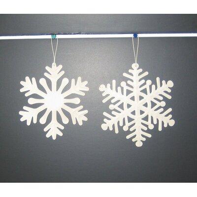 """Snowflake Ornament Size: 6"""" H x 6"""" W x 1"""" D"""