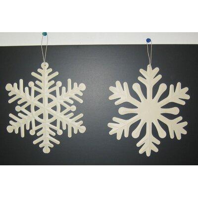 """Snowflake Ornament Size: 8"""" H x 8"""" W x 1"""" D"""