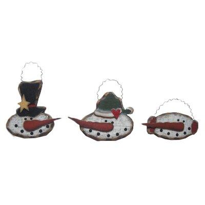 Craft Outlet Antique Snowman Head Ornament (Set of 6)