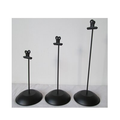 3 Piece Tin Literature Holder Set Finish: Black