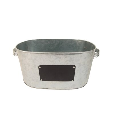 Bucket with Chalk Board Color: Silver