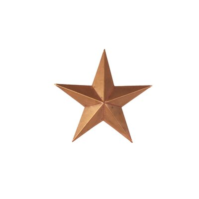 6 Copper Star Wall Décor