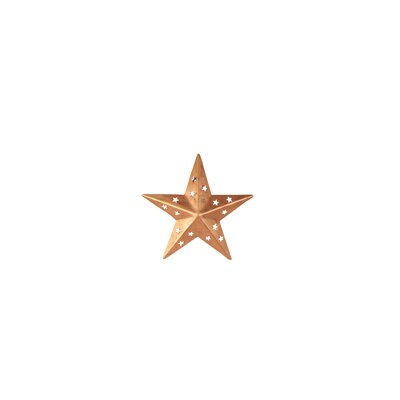 Copper Star Wall Décor with Cutouts Size: 4