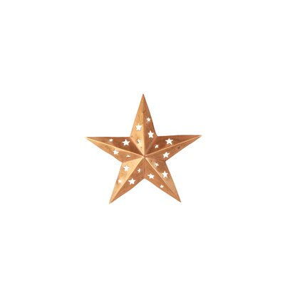 Copper Star Wall Décor with Cutouts Size: 6