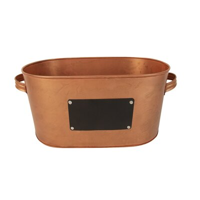 Bucket with Chalk Board Color: Copper
