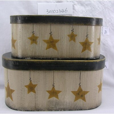 2 Piece Star Oval Box Set