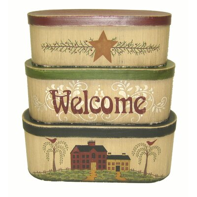 Oval Welcome 3 Piece Box Set