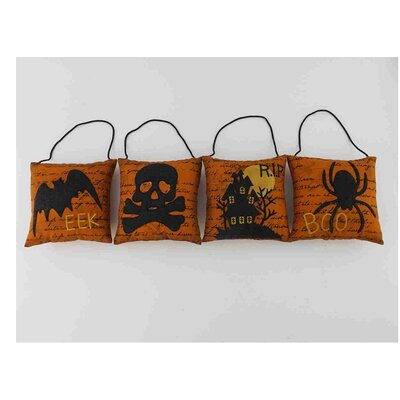 4 Piece Halloween Throw Pillow Set