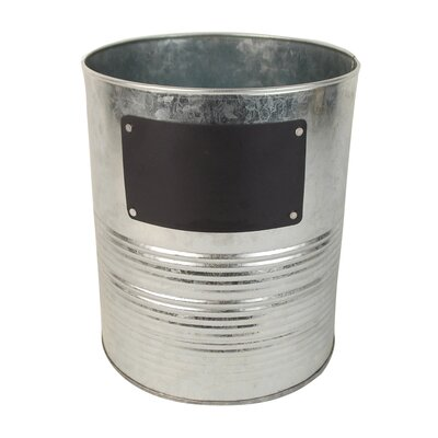 Tin Bucket with Chalkboard T1356
