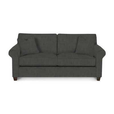 Eliza Sofa Body Fabric: Lizzy Graphite, Pillow Fabric: Lizzy Graphite