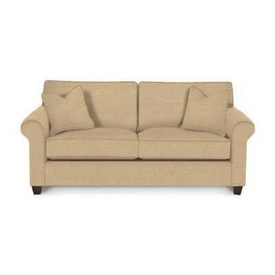 Eliza Sleeper Sofa Body Fabric: Trillion Saffron, Pillow Fabric: Trillion Saffron