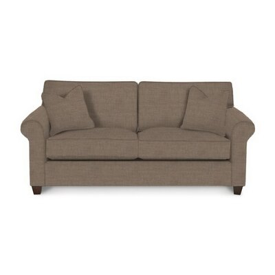 Eliza Sofa Body Fabric: Lizzy Hemp, Pillow Fabric: Lizzy Hemp