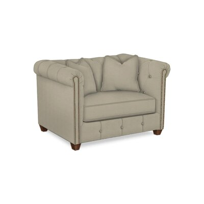 Harrison Mid Century Accent Club Chair Body Fabric: Hilo Seagull