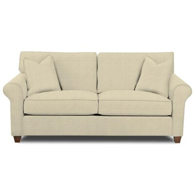 Eliza Sofa Body Fabric: Hilo Flax, Pillow Fabric: Hilo Flax