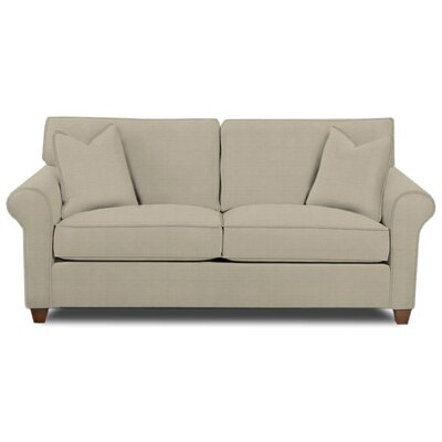 Eliza Sofa Body Fabric: Hilo Seagull, Pillow Fabric: Hilo Seagull