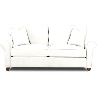 Eliza Sofa Body Fabric: Classic Bleach White, Pillow Fabric: Classic Bleach White