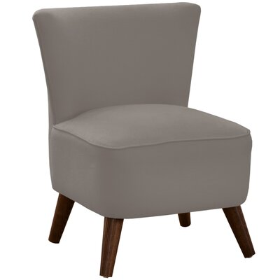 Crown Slipper Chair Upholstery: Linen Grey