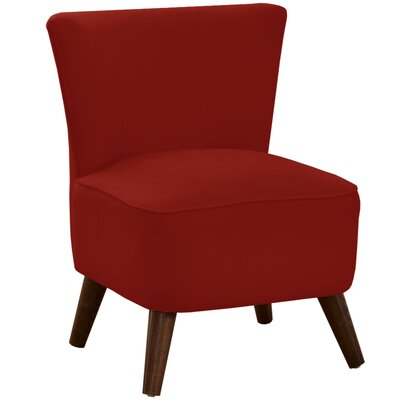 Angelica Slipper Chair Body Fabric: Duck Red
