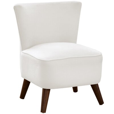 Crown Slipper Chair Upholstery: Duck White