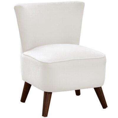 Angelica Slipper Chair Body Fabric: Duck White