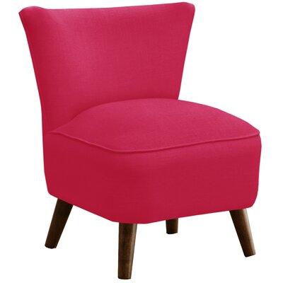 Crown Slipper Chair Upholstery: Linen Fuschia