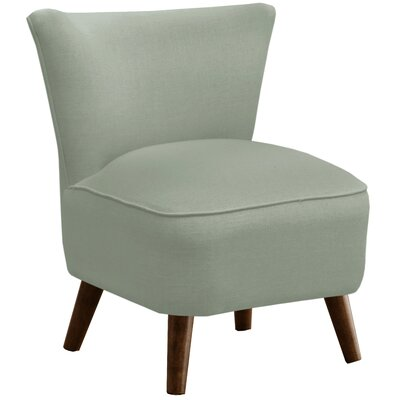 Crown Slipper Chair Upholstery: Linen Swedish Blue