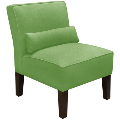 Thurston Slipper Chair Upholstery: Linen Kelly Green