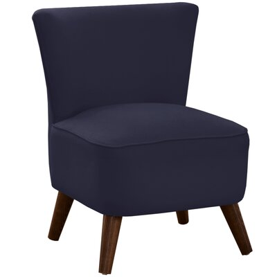 Crown Slipper Chair Upholstery: Klein Midnight