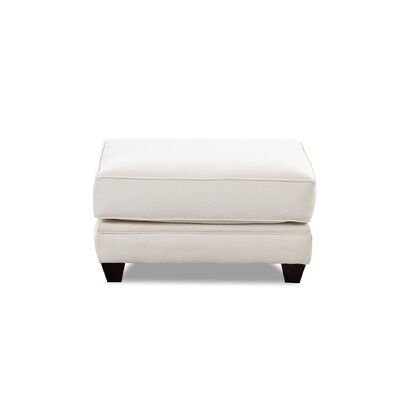 Eliza Ottoman Body Fabric: Glynnlinen Optic White