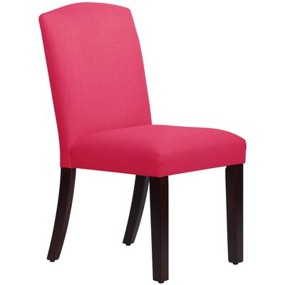 Nadia Parsons Chair Body Fabric: Linen Fuchsia