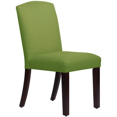 Nadia Parsons Chair Body Fabric: Linen Kelly Green