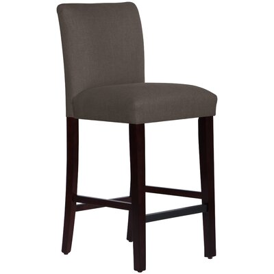 Connery 31 Bar Stool Body Fabric: Linen Cindersmoke