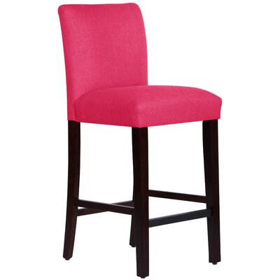 Connery 31 Bar Stool Body Fabric: Linen Fuchsia