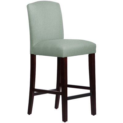 Nadia 31 Bar Stool Body Fabric: Linen Swedish Blue