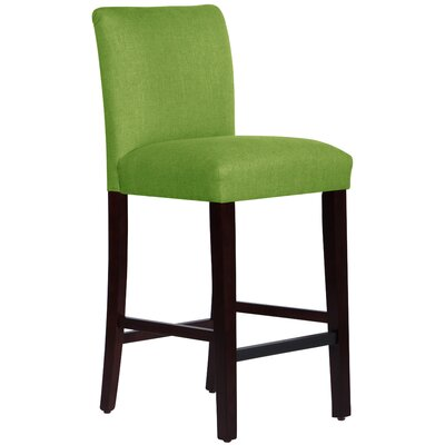 Connery 31 Bar Stool Body Fabric: Linen Kelly Green