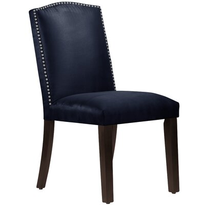 Nadia Parsons Chair with Nail Buttons Body Fabric: Premier Navy
