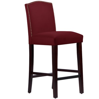 Nadia 31 Nail Button Bar Stool Body Fabric: Velvet Berry