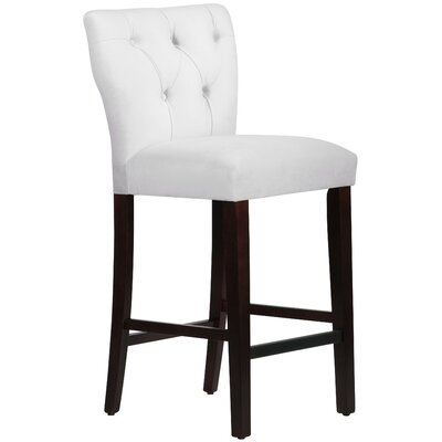 Evelina 31 Bar Stool Upholstery: Premier White